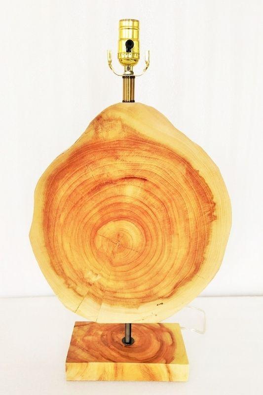 Mid-century Wooden Table Lamp