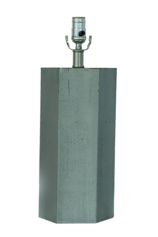 Grey Octagon Table Lamp