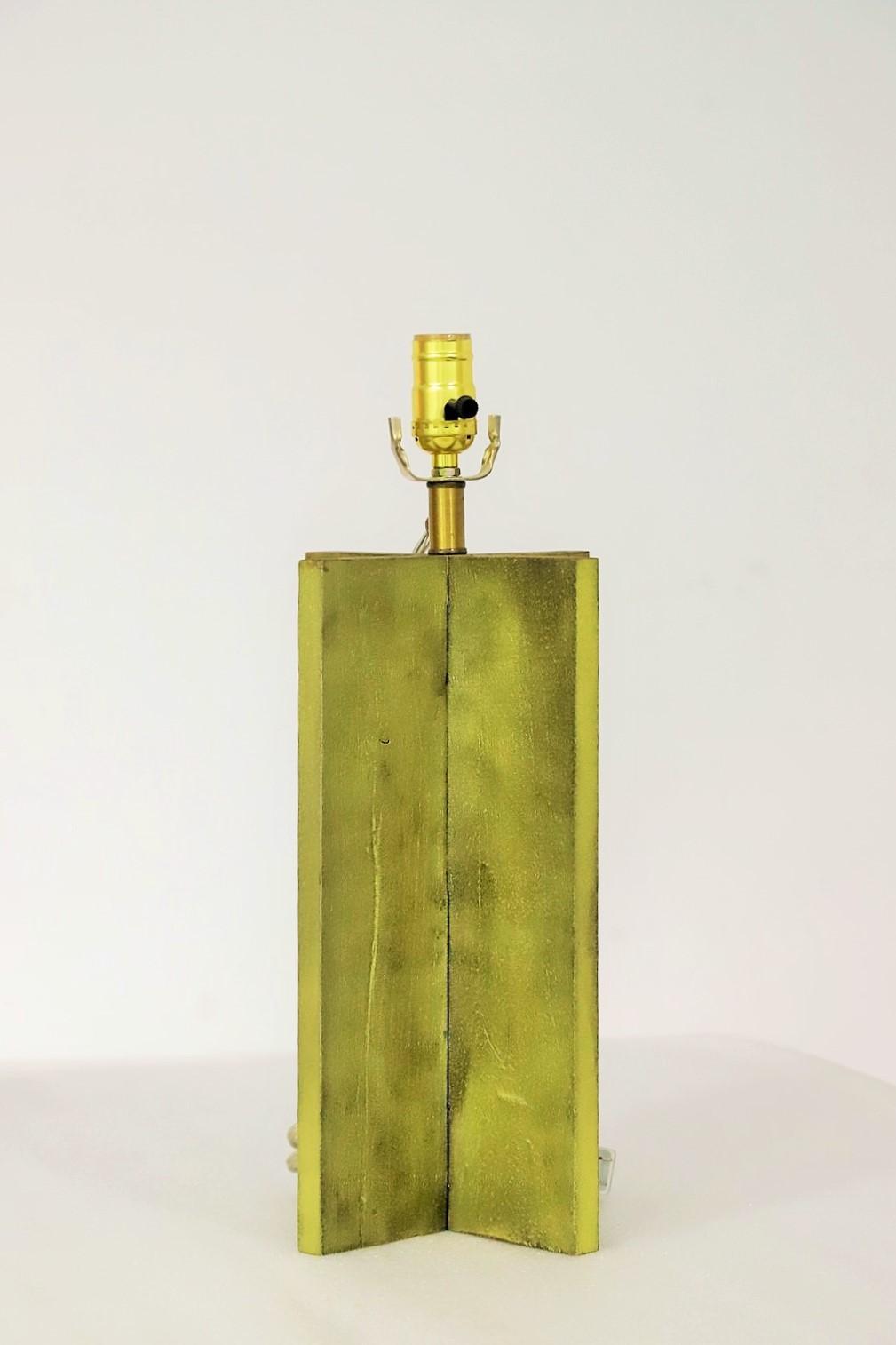Yellow Cross Table Lamp