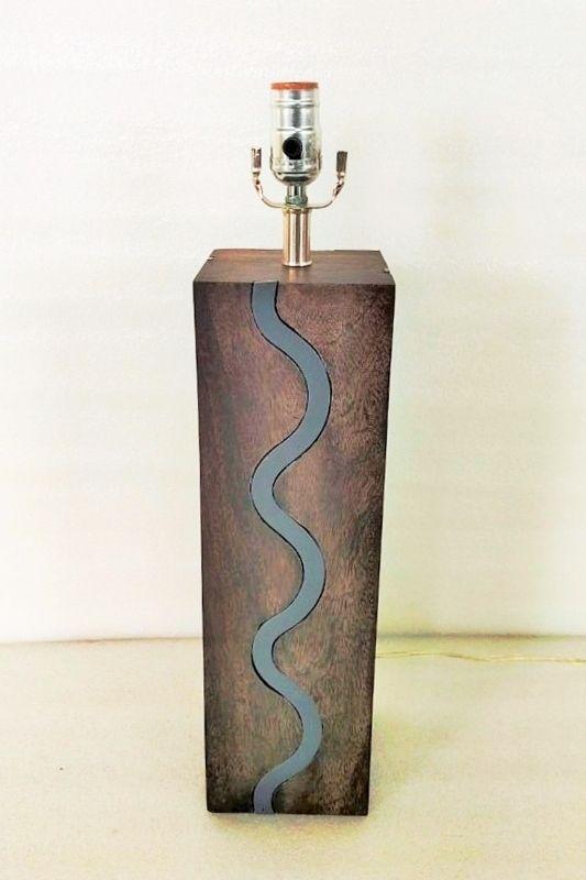 Grey Stream Table Lamp