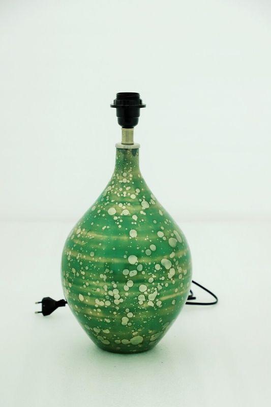 Rustic Green Table Lamp