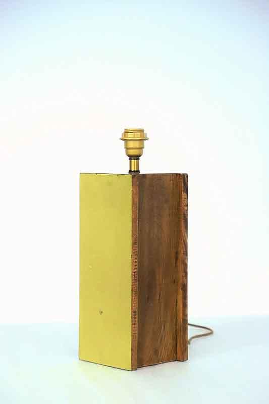 Wooden Cuboid Table Lamp