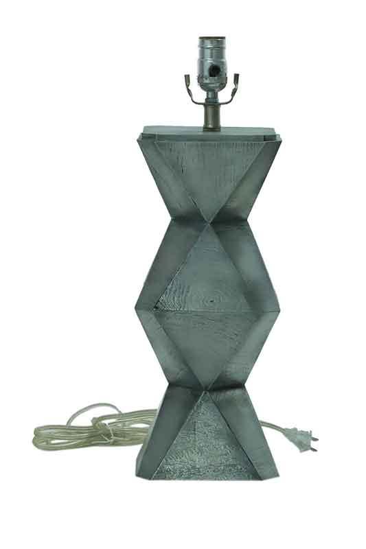 Zig-zag Case Table Lamp