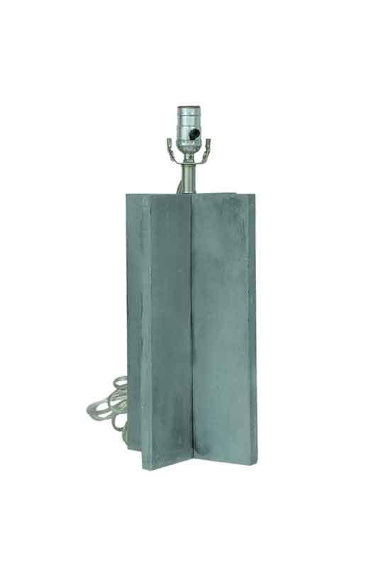 Grey Cross Table Lamp